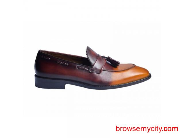 Buy Men Leather Loafers Online - 3/6
