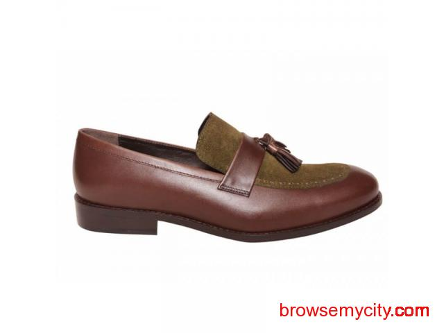 Buy Men Leather Loafers Online - 4/6
