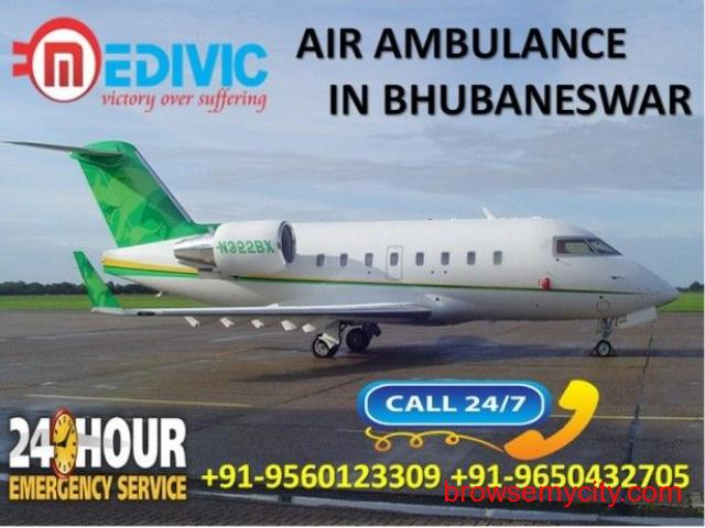 Get Appropriate Hi-tech Survival Service Air Ambulance in Bhubaneswar by Medivic - 1/1