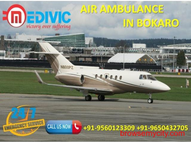 Book the Great Benefit of High Standard Air Ambulance in Bokaro by Medivic - 1/1