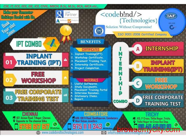 inplant training in coimbatore for cse - 1/1