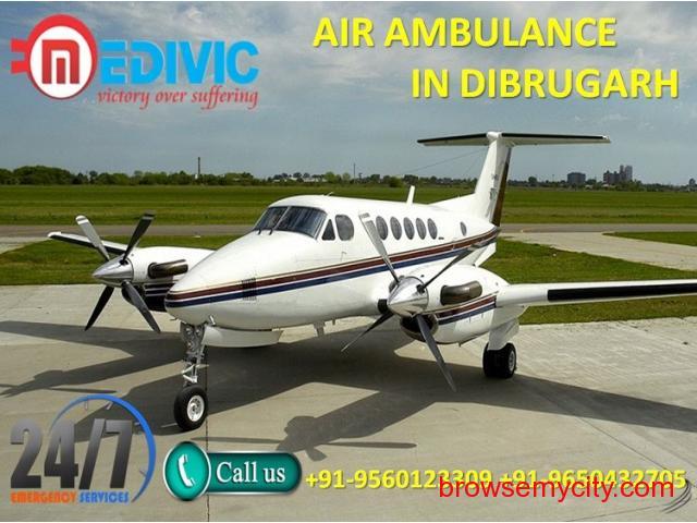 Use Appropriate ICU and CCU Air Ambulance Service in Dibrugarh by Medivic - 1/1
