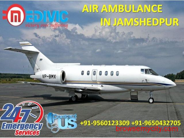 Get Most Estimable Medivic Air Ambulance Service in Jamshedpur at Low Fare - 1/1
