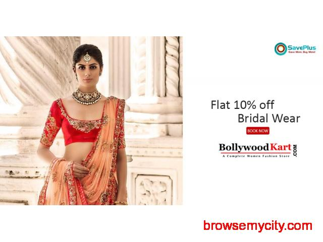 Bollywood Kart Coupons, Deals & Offers: Flat 10% off Bridal Wear - 1/1