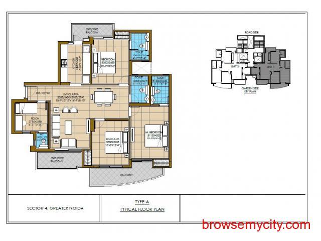 3 Bhk Apartments at Noida Extension - 3/4