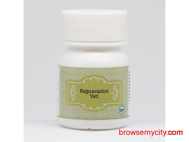 Buy Vaidhyashala Ayurvedic Medicines Rajpravartini Vati Online from 1Mg, Swasthya Shopee and Amazon - 1/1