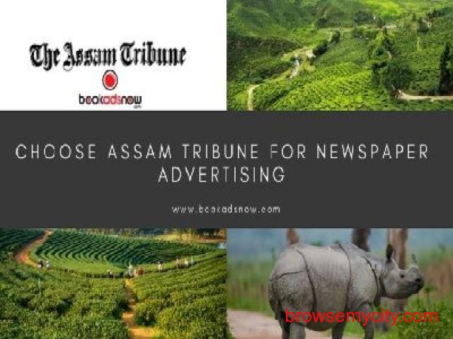Release Newspaper Ads in Assam Tribune at Best Price - 1/2