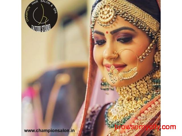 Best Bridal Makeup in Udaipur Champion Salon - 1/1