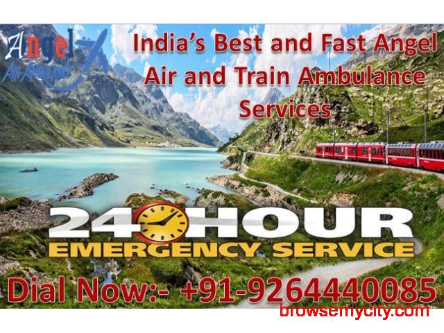 Avail Best Emergency Air and Train Ambulance in Dimapur with ICU Facility - 1/1