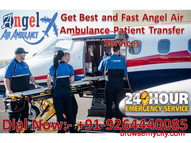Get Best and Safe ICU Air and Train Ambulance in Dibrugarh – Angel Air Ambulance - 1/1