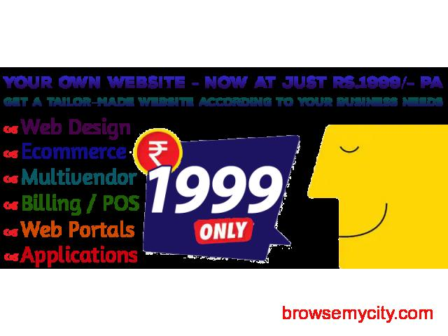 All type of Website  - Now at just rs 1999/- pa - 1/1