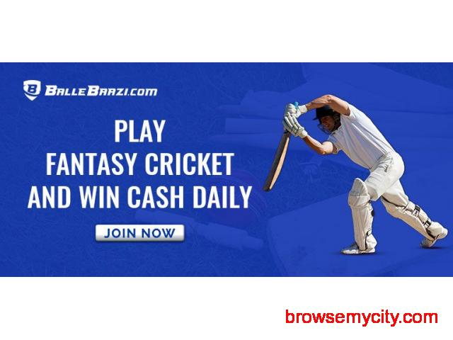 Play Fantasy Cricket and Earn Real Cash - 1/1