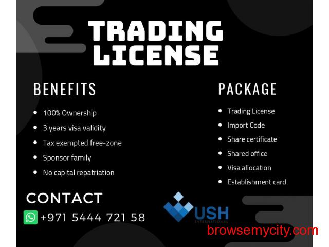 Trade License with Visa Allocation in Freezone, Call #971544472158 - 1/1