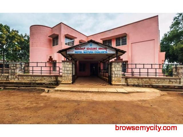 Get Hotel Mayura Chalukya (KSTDC) in,Badami with Class Accommodation. - 1/4