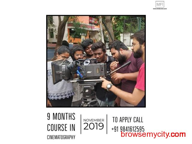Nine Months Course in Cinematography from November 2019 Admissions Open Apply Now - 1/5