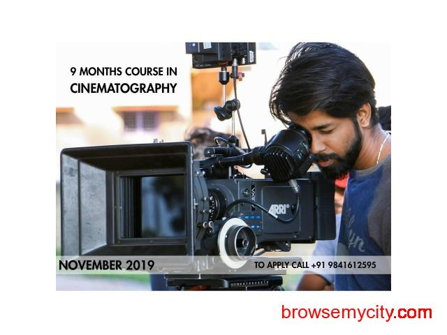 Nine Months Course in Cinematography from November 2019 Admissions Open Apply Now - 2/5