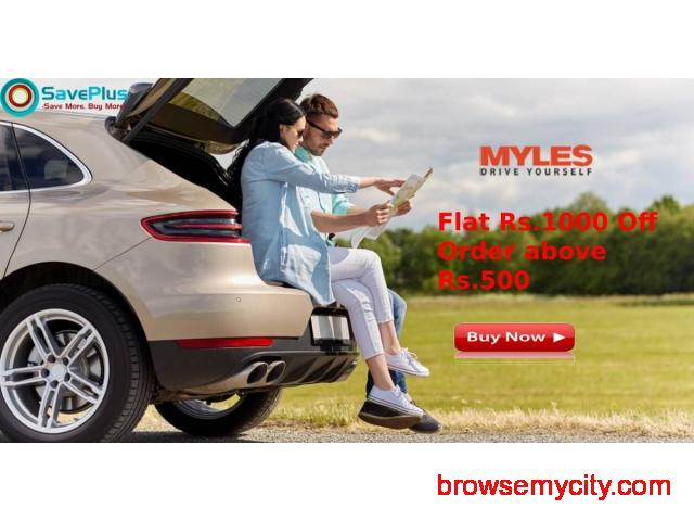 Myles Coupons, Deals & Offers: Flat Rs.1000 Off Bookings Over Rs.6000 - 1/1