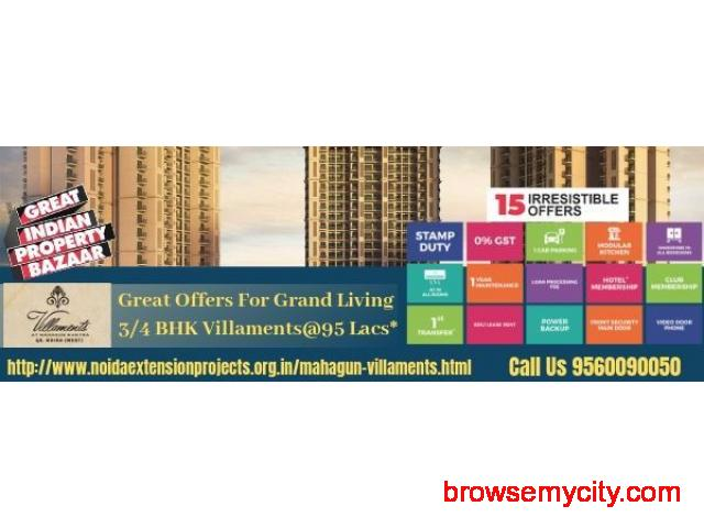 Book Villa in Mahagun Villaments & get Exciting Offers - 1/1