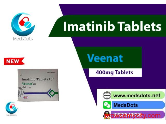 Indian Gleevec Tablets Buy Online | Natco Imatinib Capsules  Price | Veenat 400mg Tablets Supplier - 1/1