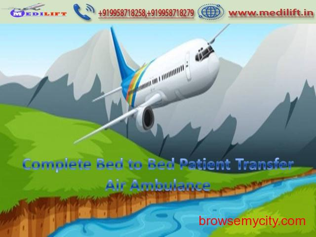 Pick Comfy and Fast Air Ambulance Service in Bhopal by Medilift - 1/1