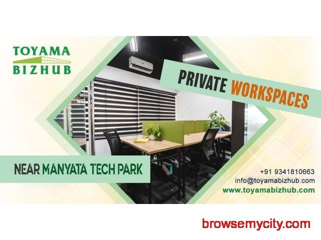 Shared Office Space for Startups near Manyata Tech Park - 1/1