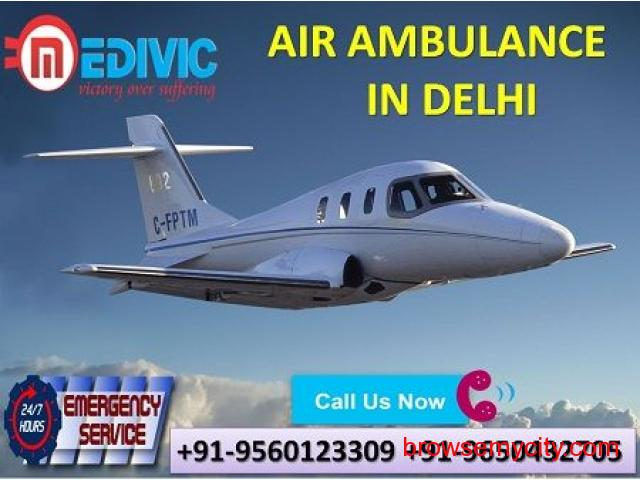 Get Quick Medivic Air Ambulance from Delhi with Advanced ICU Care - 1/1