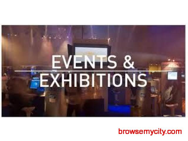 Exhibition and Stall Decoration in India | Corporate Events - Lowest Price,  Blue Divine - 1/1