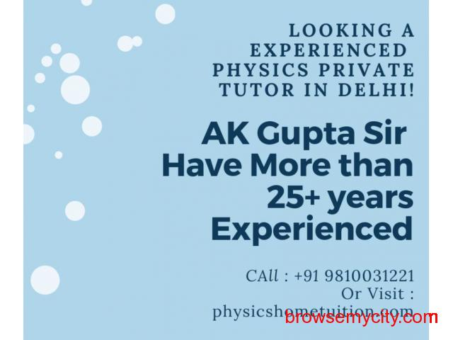 experienced Physics Home Tutor In Delhi - 1/1