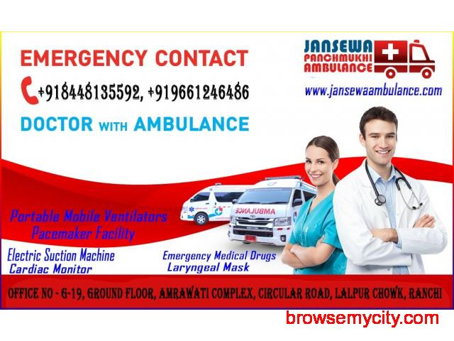 Jansewa Panchmukhi Ambulance in Nehru Place with Reliable Medical Service - 1/1