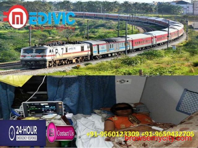 Safe Patient Relocation by Medivic Train Ambulance Patna to Delhi - 1/1