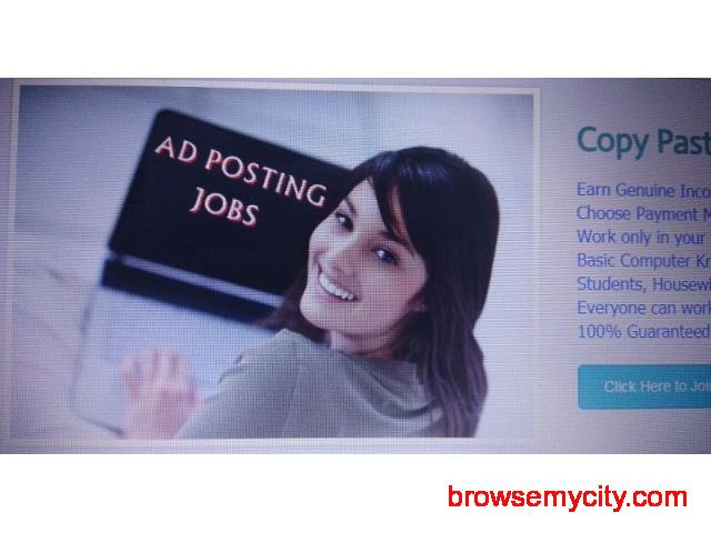 Earn Rs.30000/- every month from home - Simple Data Entry Jobs & Copy Paste Jobs - 1/1