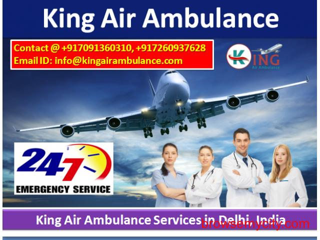 Get Very Low Cost King Air Ambulance Service in Delhi, India - 1/1