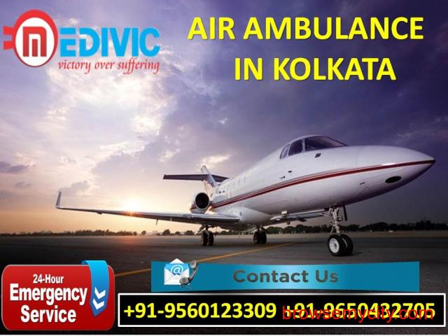 Hire Excellent Patient Rescue Air Ambulance Service in Kolkata by Medivic - 1/1