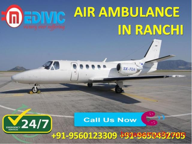 Use Noteworthy Life Support Air Ambulance Service in Ranchi by Medivic - 1/1