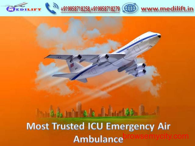 Get High-Caring Medical Support Air Ambulance Service in Guwahati - 1/1