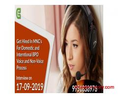 Hiring For MNC's as BPO Executives for Domestic and International Voice and Non-Voice Process on 17-