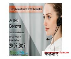 Huge Hiring for Freshers in Hyderabad for MNC clients (Non-IT/ITES) - Walk-in directly on 20-09-2019